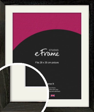 Industrial Edge Black Picture Frame & Mount, 28x35cm (VRMP-591-M-28x35cm)