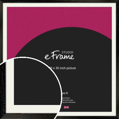 Industrial Edge Black Picture Frame & Mount, 30x30
