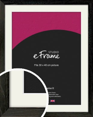 Industrial Edge Black Picture Frame & Mount, 30x40cm (VRMP-591-M-30x40cm)