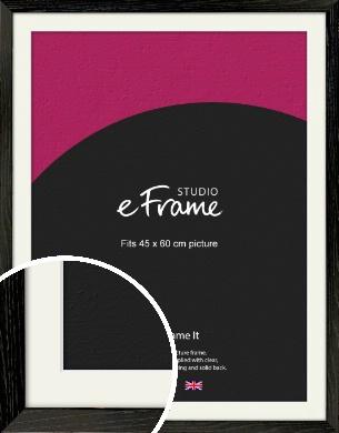 Industrial Edge Black Picture Frame & Mount, 45x60cm (VRMP-591-M-45x60cm)