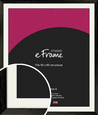 Industrial Edge Black Picture Frame & Mount, 50x60cm (VRMP-591-M-50x60cm)