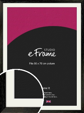 Industrial Edge Black Picture Frame & Mount, 50x70cm (VRMP-591-M-50x70cm)