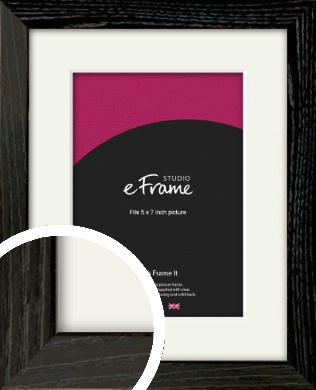 Industrial Edge Black Picture Frame & Mount, 5x7
