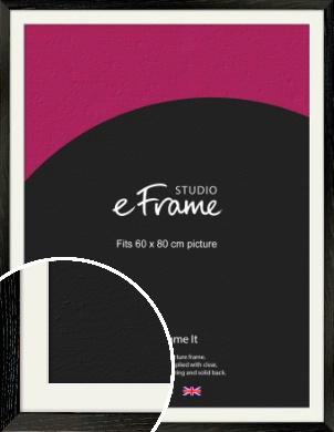 Industrial Edge Black Picture Frame & Mount, 60x80cm (VRMP-591-M-60x80cm)