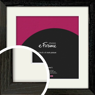 Industrial Edge Black Picture Frame & Mount, 8x8
