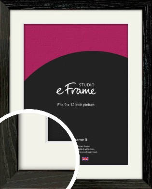 Industrial Edge Black Picture Frame & Mount, 9x12