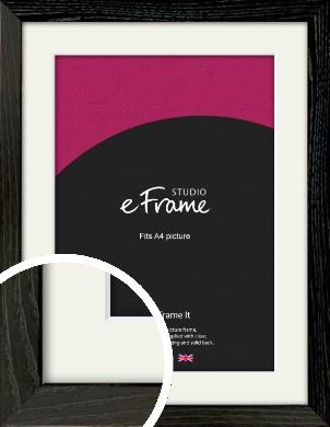 Industrial Edge Black Picture Frame & Mount, A4 (210x297mm) (VRMP-591-M-A4)