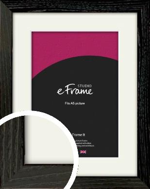 Industrial Edge Black Picture Frame & Mount, A5 (148x210mm) (VRMP-591-M-A5)