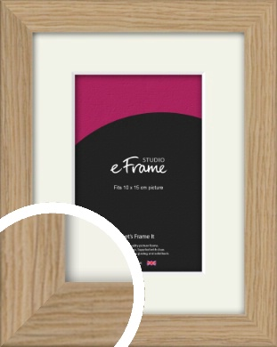 Classic Solid English Oak Natural Wood Picture Frame & Mount, 10x15cm (4x6