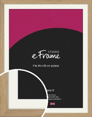 Classic Solid English Oak Natural Wood Picture Frame & Mount, 45x60cm (VRMP-796-M-45x60cm)
