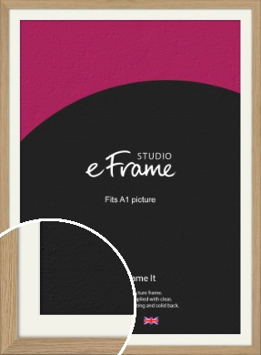 Classic Solid English Oak Natural Wood Picture Frame & Mount, A1 (594x841mm) (VRMP-796-M-A1)