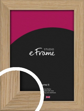 Classic Solid English Oak Natural Wood Picture Frame (VRMP-796)