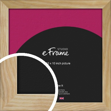Wavy Grained Natural Wood Picture Frame, 10x10