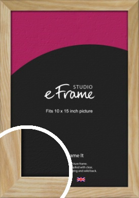 Wavy Grained Natural Wood Picture Frame, 10x15