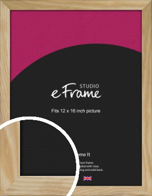 Wavy Grained Natural Wood Picture Frame, 12x16