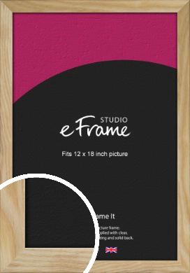 Wavy Grained Natural Wood Picture Frame, 12x18