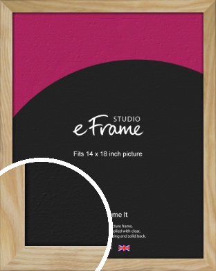 Wavy Grained Natural Wood Picture Frame, 14x18