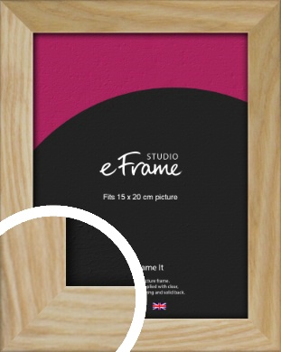 Wavy Grained Natural Wood Picture Frame, 15x20cm (6x8