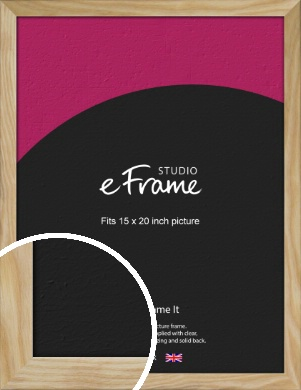 Wavy Grained Natural Wood Picture Frame, 15x20