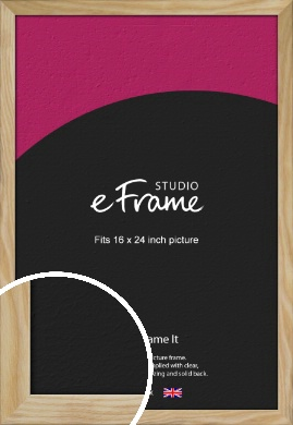 Wavy Grained Natural Wood Picture Frame, 16x24