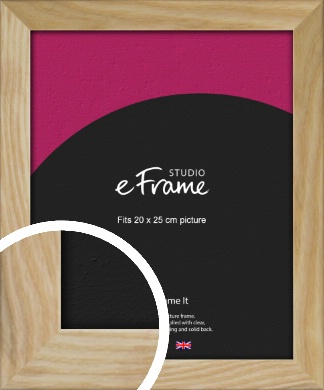 Wavy Grained Natural Wood Picture Frame, 20x25cm (8x10
