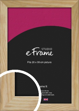 Wavy Grained Natural Wood Picture Frame, 20x30cm (8x12