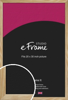 Wavy Grained Natural Wood Picture Frame, 20x30