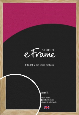 Wavy Grained Natural Wood Picture Frame, 24x36
