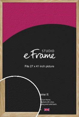 Wavy Grained Natural Wood Picture Frame, 27x41