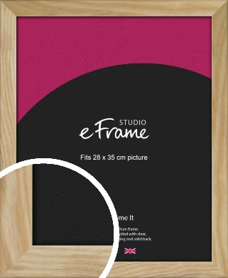 Wavy Grained Natural Wood Picture Frame, 28x35cm (VRMP-797-28x35cm)