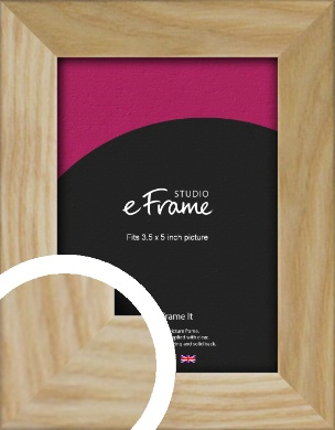 Wavy Grained Natural Wood Picture Frame, 3.5x5