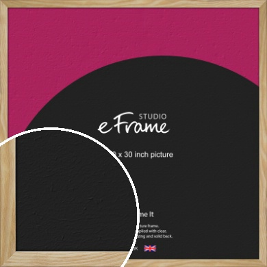 Wavy Grained Natural Wood Picture Frame, 30x30