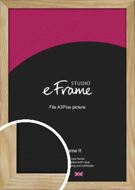 Wavy Grained Natural Wood Picture Frame, A3Plus (VRMP-797-329x483mm)