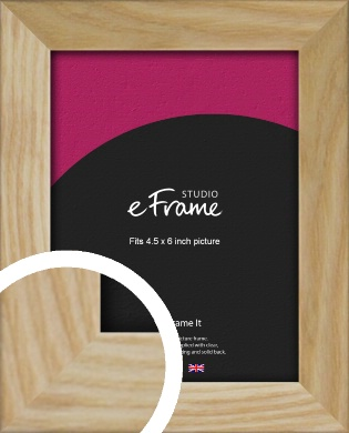 Wavy Grained Natural Wood Picture Frame, 4.5x6