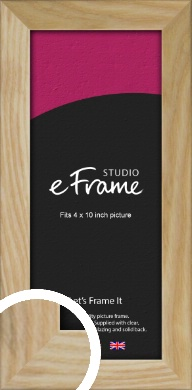 Wavy Grained Natural Wood Picture Frame, 4x10