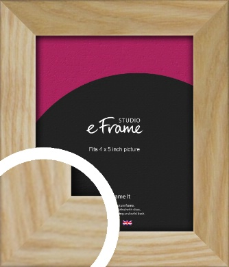Wavy Grained Natural Wood Picture Frame, 4x5