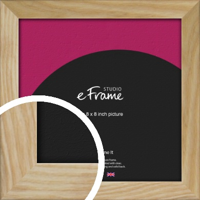 Wavy Grained Natural Wood Picture Frame, 8x8