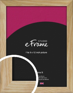 Wavy Grained Natural Wood Picture Frame, 9x12