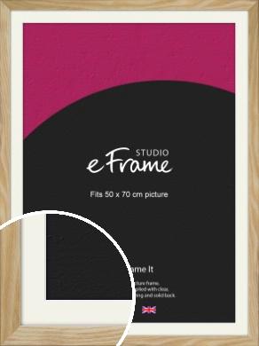 Wavy Grained Natural Wood Picture Frame & Mount, 50x70cm (VRMP-797-M-50x70cm)