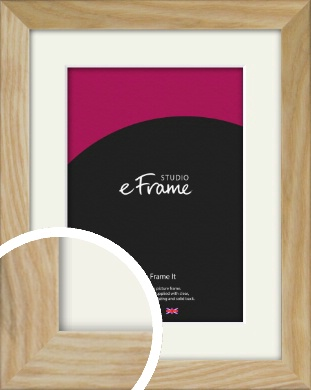 Wavy Grained Natural Wood Picture Frame & Mount (VRMP-797-M)