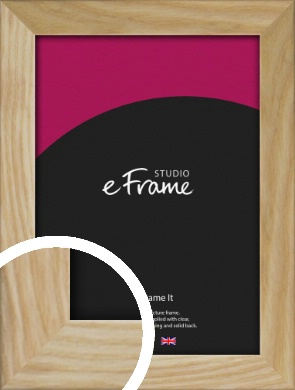 Wavy Grained Natural Wood Picture Frame (VRMP-797)