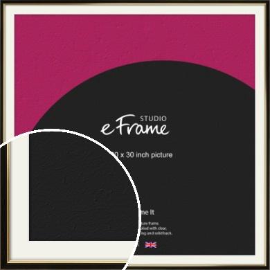 Decorative Gold Edge & Black Picture Frame & Mount, 30x30