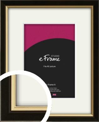 Decorative Gold Edge & Black Picture Frame & Mount, A6 (105x148mm) (VRMP-385-M-A6)