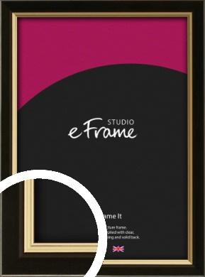 Decorative Gold Edge & Black Picture Frame (VRMP-385)