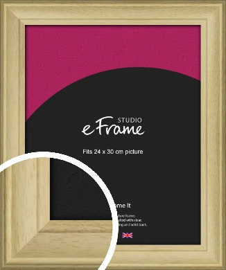 Ridged Country Natural Wood Picture Frame, 24x30cm (VRMP-799-24x30cm)