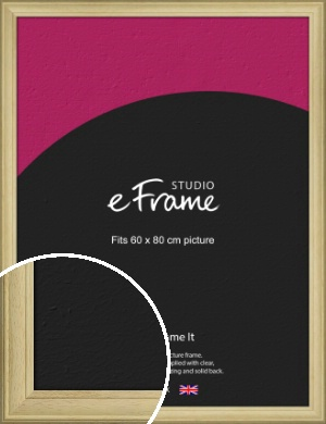 Ridged Country Natural Wood Picture Frame, 60x80cm (VRMP-799-60x80cm)