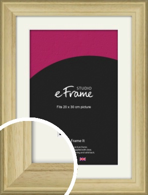Ridged Country Natural Wood Picture Frame & Mount, 20x30cm (8x12
