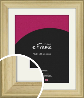 Ridged Country Natural Wood Picture Frame & Mount, 24x30cm (VRMP-799-M-24x30cm)