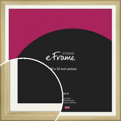 Ridged Country Natural Wood Picture Frame & Mount, 30x30