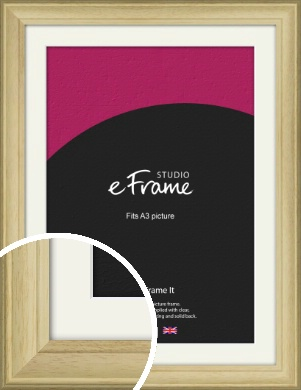 Ridged Country Natural Wood Picture Frame & Mount, A3 (297x420mm) (VRMP-799-M-A3)